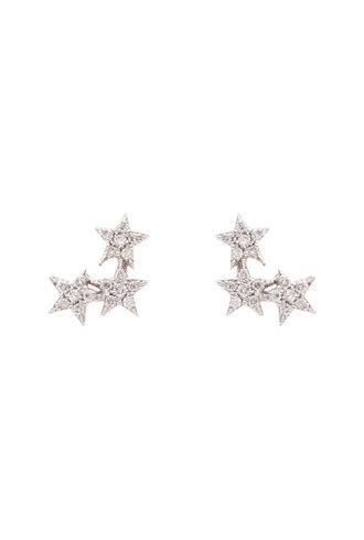 KISMET by Milka 3 Star Stud in White Diamond