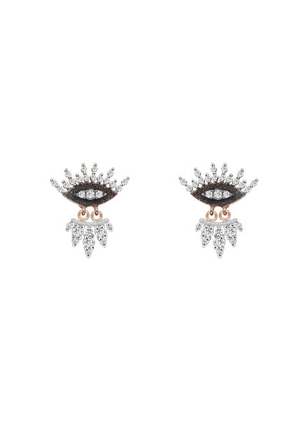 KISMET by Milka 10th Eye Regina Earrings in White Diamond