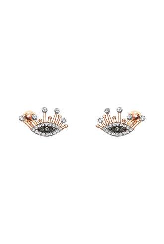 KISMET by Milka 10th Eye Eternal Vision Earrings in White and Champagne Diamond