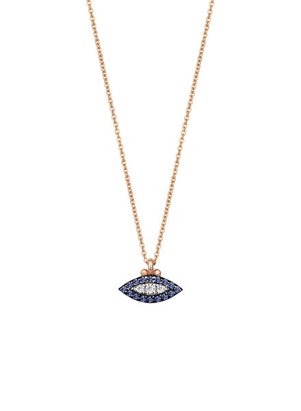 KISMET by Milka 10th Eye Haven Necklace in Sapphire and White Diamond