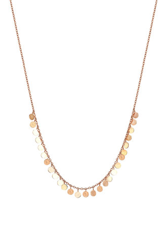 KISMET by Milka Dangle Circles Short Necklace