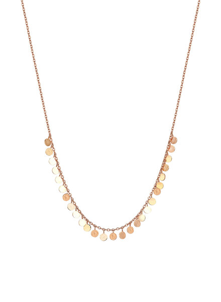 KISMET by Milka Dangle Circles Short Necklace