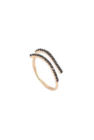 KISMET by Milka Wrap Over Ring in Black Diamond