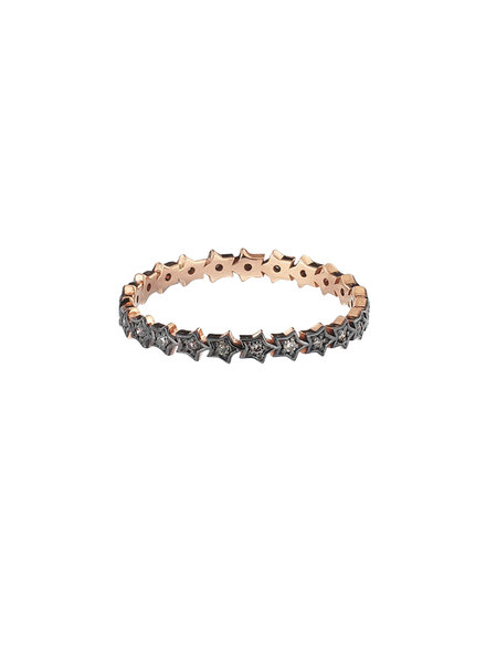 KISMET by Milka Full Rounded Star Ring with Champagne Diamond