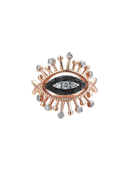 KISMET by Milka Small 10th Eye Eternal Vision Ring in White Diamond