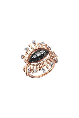 KISMET by Milka Small 10th Eye Eternal Vision Ring in White Diamond