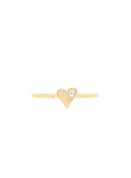 Victoria Cunningham 14k Gold Diamond Heart Ring