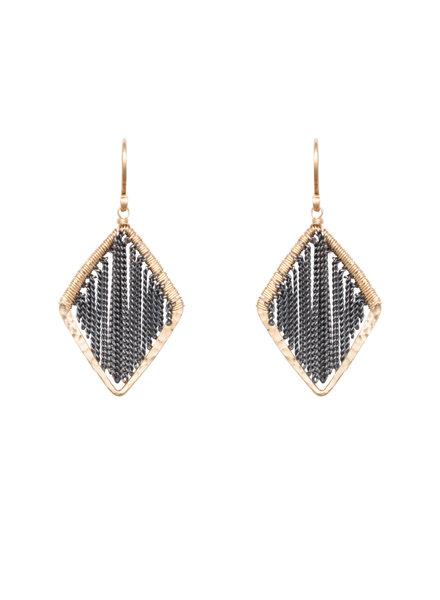 Dana Kellin Fashion Silver Chain and Gold Earrings