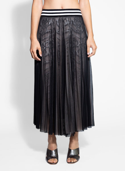 Loyd/Ford Three Layer Mesh and Silk Skirt Multi