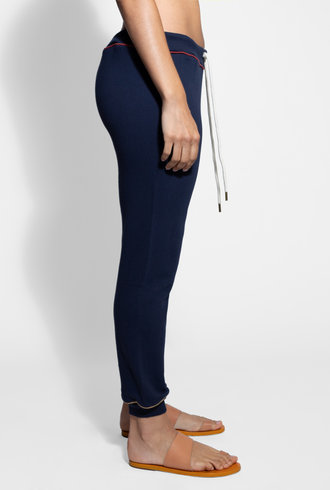 The Great The Cropped Sweatpant with Multi Piping Navy