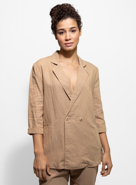 The Great The Slouch Blazer Khaki