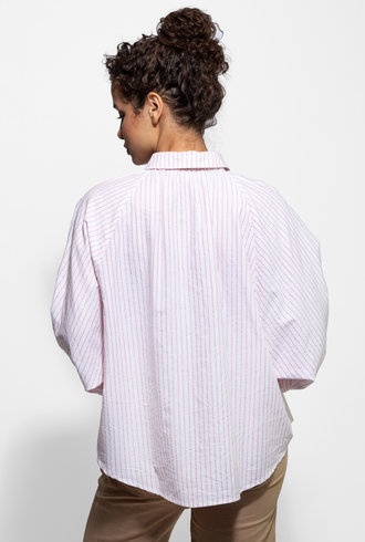 The Great The Estate Button Up Birdseye Stripe