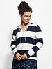 Trovata Vivian Hoodie Sweater Navy Stripe