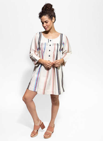 Apiece Apart Benita Mini Dress Light Stripe