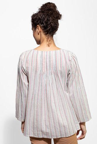 Apiece Apart Las Damas Blouse Small Multi Stripe