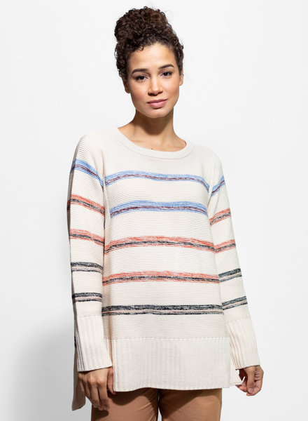Apiece Apart Baja Oversize Crew Light Stripe