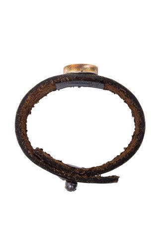 Beth Orduna Design Labradorite Brown Leather Bracelet