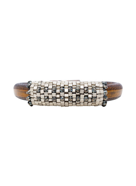 Pyrite Leather Bracelet