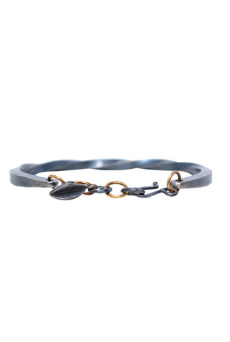 Sarah McGuire Bias Cuff with Two Tone Pod Clasp