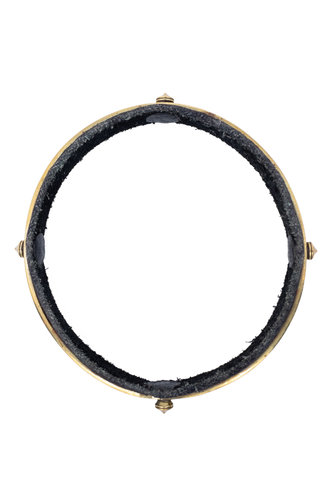 Beth Orduna Design Leather and Brass Small Thorn Bangle