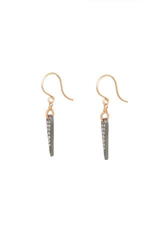 Dana Kellin Fine Diamond, Silver, and Gold Spike Earrings