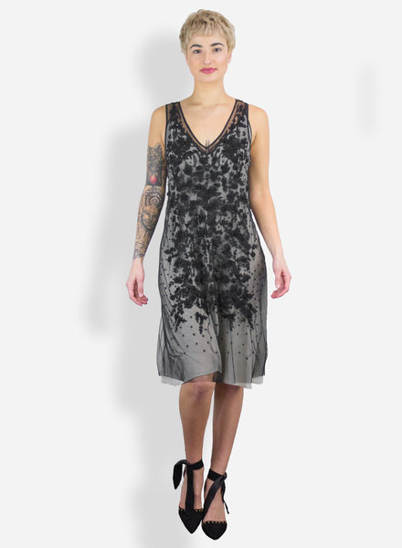 Gary Graham Jet Beaded Cocoon Dress