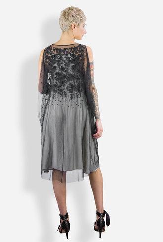 Gary Graham Jet Beaded Cocoon Dress
