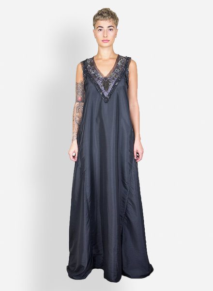 Gary Graham Byzantium Taffeta Gown Black