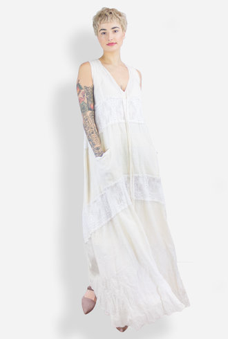 Gary Graham Patched Lace Dress Antique