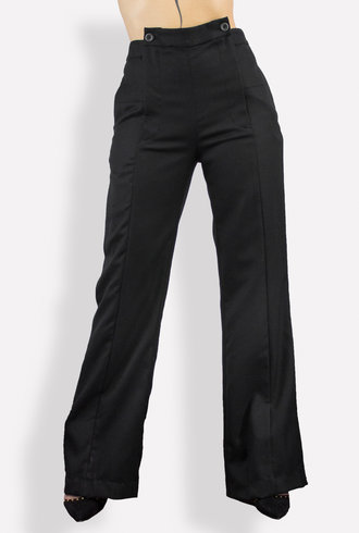 Gary Graham Wool Suiting High Waisted Pant