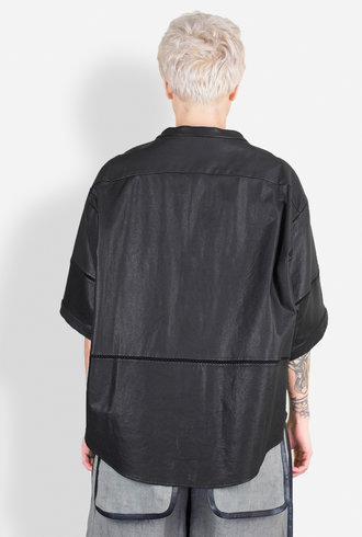 Gary Graham Leather Box Shirt Black