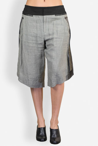 Gary Graham Linen Reversed Shorts Army