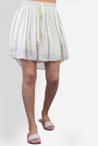 Raquel Allegra Waist Tie Hi-Lo Mini Skirt