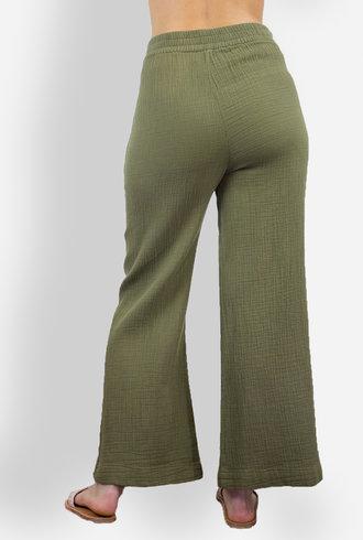 Raquel Allegra Wide Leg Pant Army