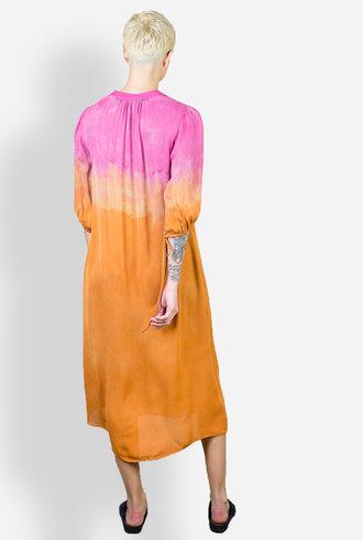 Raquel Allegra Peasant Dress Poppy Bloom