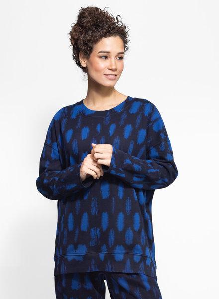 Raquel Allegra Oversize Sweatshirt Cobalt Tie Dye