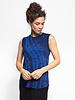 Raquel Allegra Muscle Tee Cobalt Tie Dye
