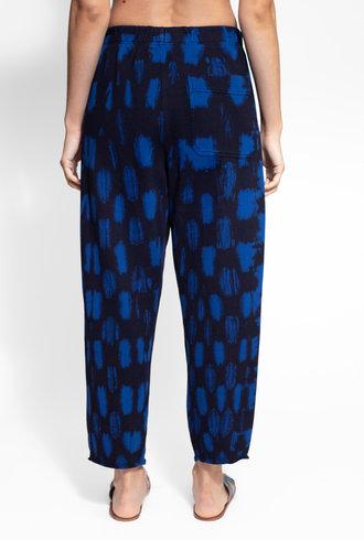 Raquel Allegra Easy Sweatpant Cobalt Tie Dye