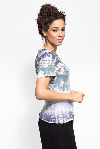 Raquel Allegra Slim Tee Violet Tie Dye