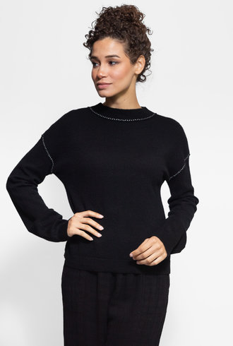 Inhabit Relaxed Pullover Black
