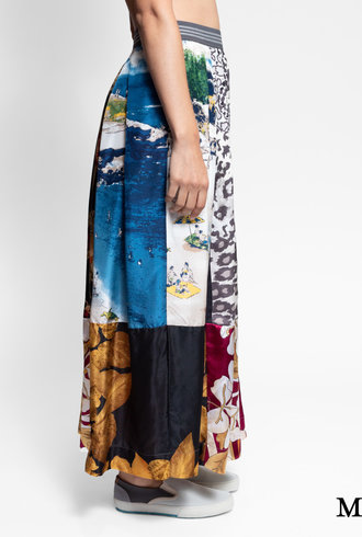Burning Torch Wonderland Maxi Skirt Multi