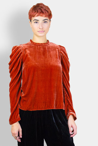 Ulla Johnson Gilles Blouse Garnet