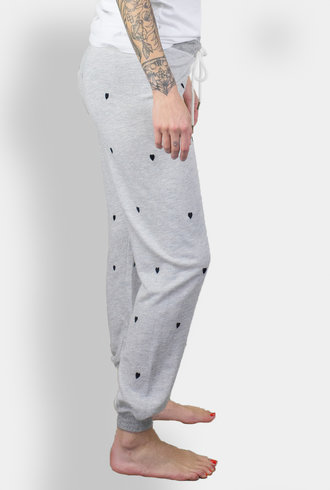 The Great The Cropped Sweat Pant Heather Grey