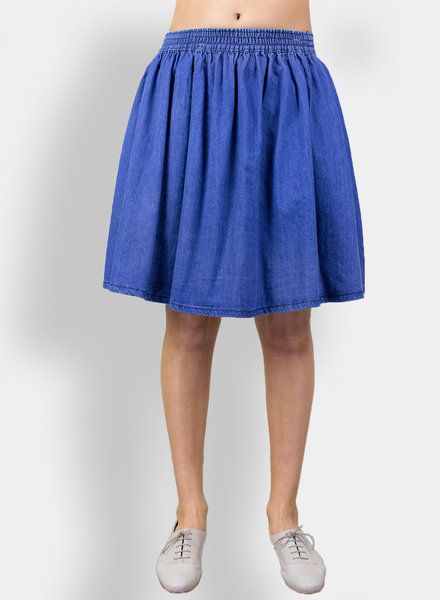 The Great The Court Skirt Vibrant Blue Wash