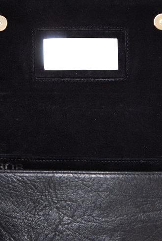 Jerome Dreyfuss Bob Baguette Bag Noir Goatskin