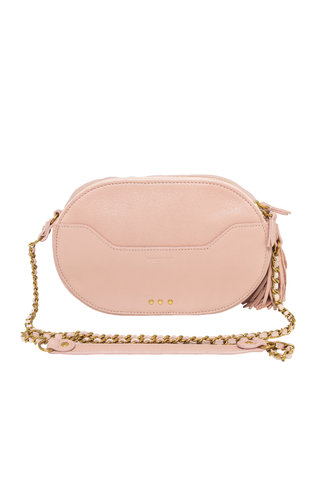 Jerome Dreyfuss Marc Oval Bag Rose Goatskin