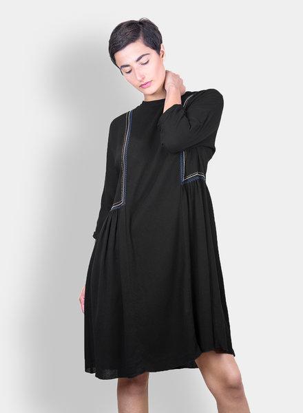 Pomandere Embroidered Dress Black