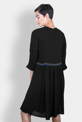 Pomandere Embroidered Dress Black