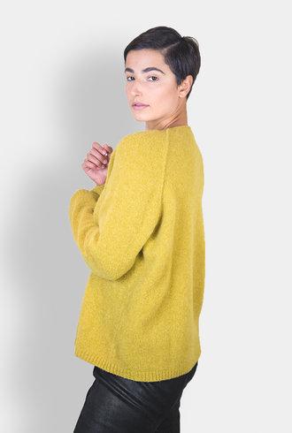 Pomandere Crew Neck Pullover Mustard