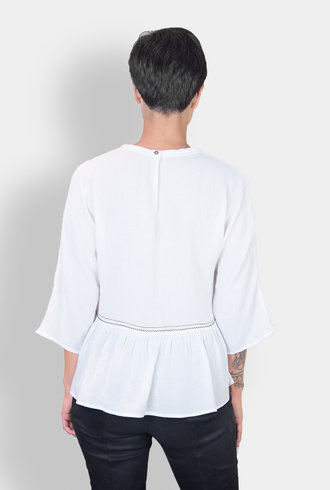 Pomandere Embroidered Blouse White